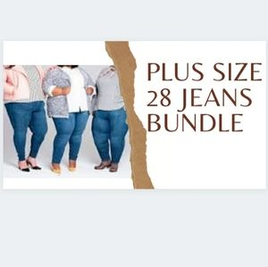 Addition Elle Curvy Premium Denim and Old Navy Pop Icon Skinny Jeans Size 28